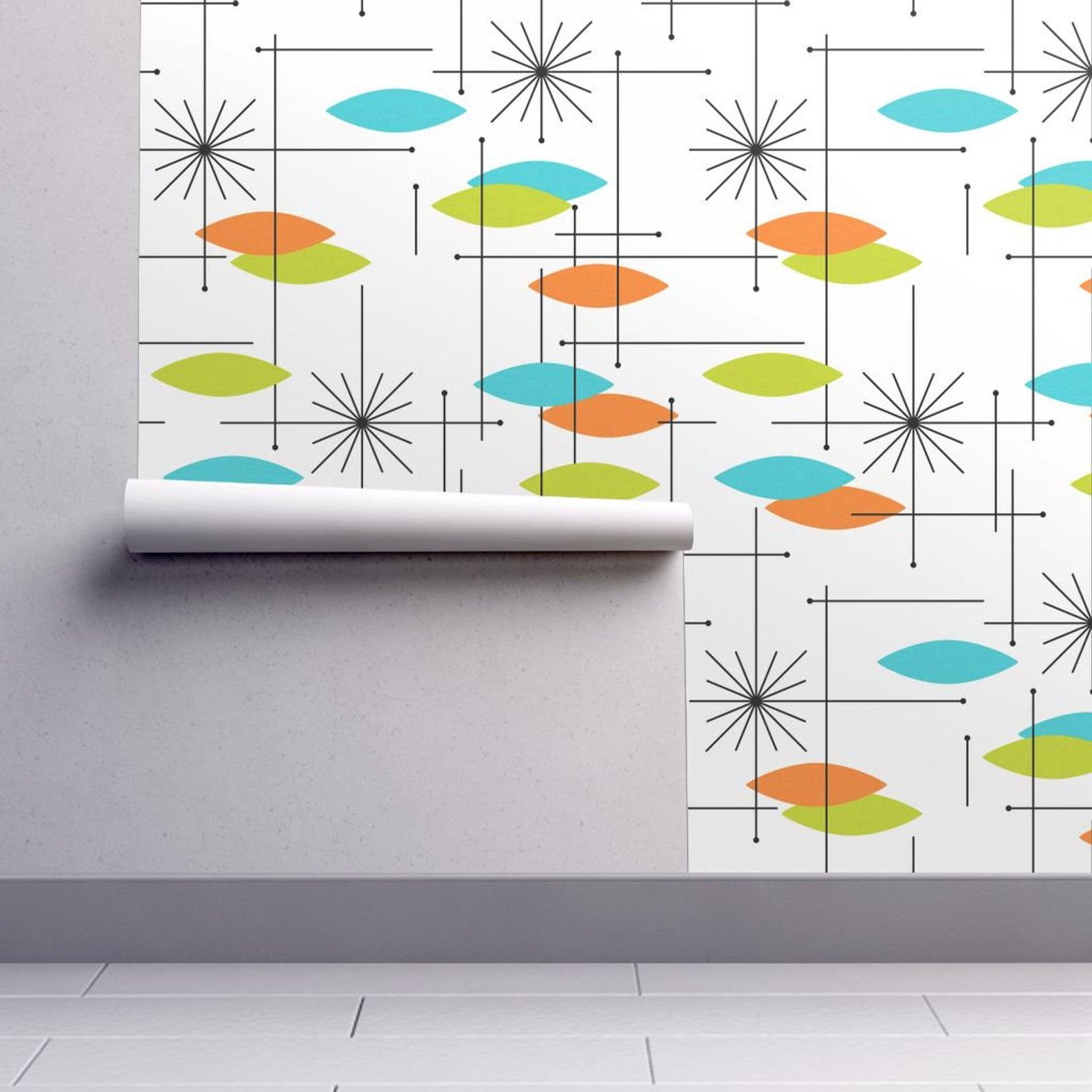 5 Mid Century Modern Designs For Self Adhesive Wallpaper